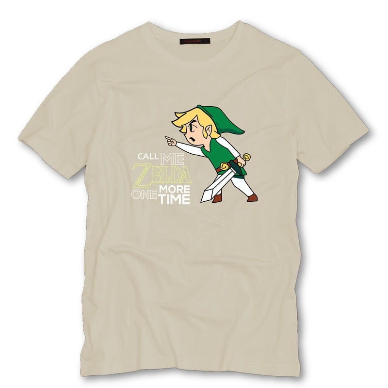 Khaki / S Call Me Zelda One More Time T-Shirt T-Shirt