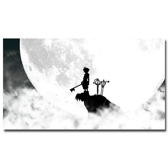 Kingdom Hearts - Sora and Keyblades Silk Poster Art