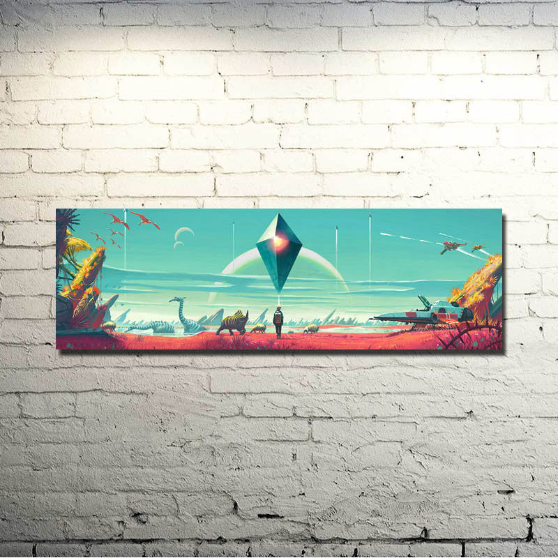 No Man's Sky Landscape Silk Poster Art