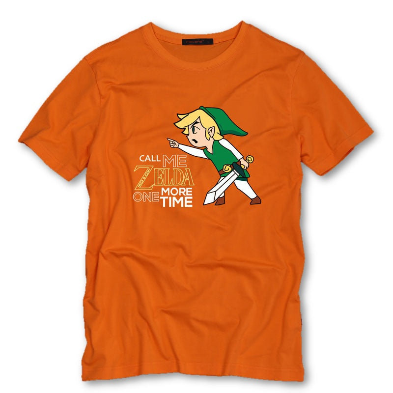 Orange / S Call Me Zelda One More Time T-Shirt T-Shirt