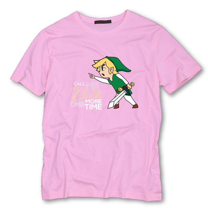 Pink / S Call Me Zelda One More Time T-Shirt T-Shirt