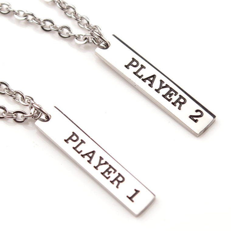 Player 1 And 2 Pendant Set Jewelry