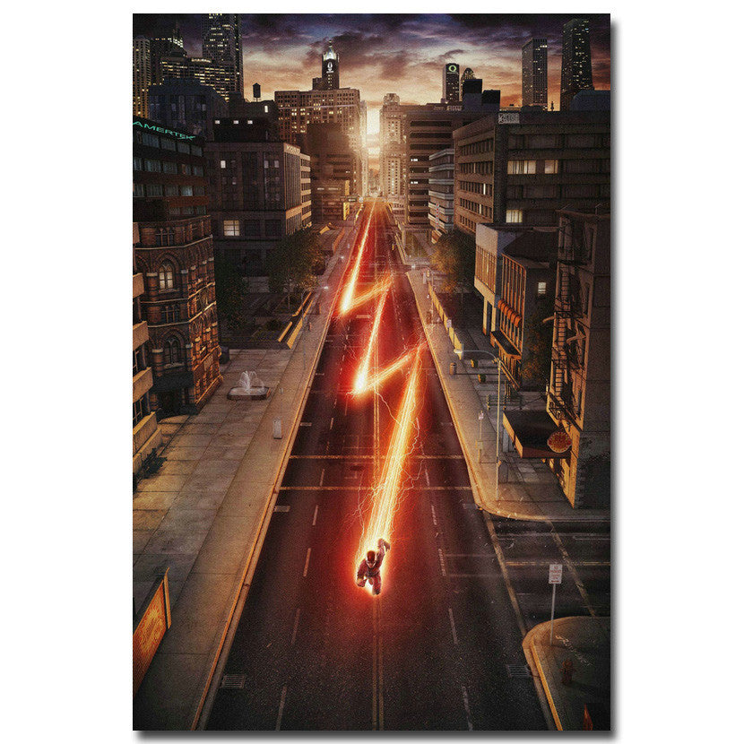 The Flash - Barry Allen In Motion Silk Poster