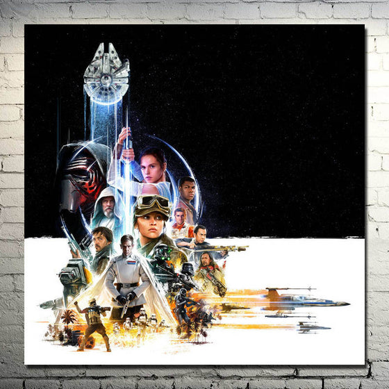 Rogue One A Star Wars Story - Silk Poster Art