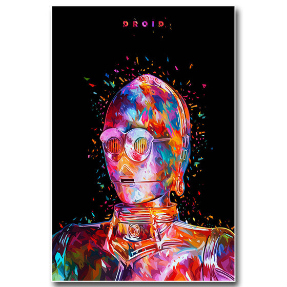 "Star Wars - ""Droid"" C-3PO Silk Poster Art"
