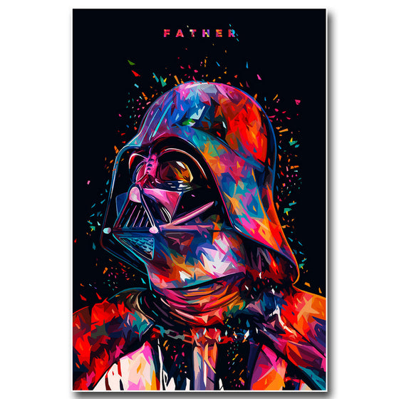 "Star Wars - ""Father"" Darth Vader Silk Poster Art"