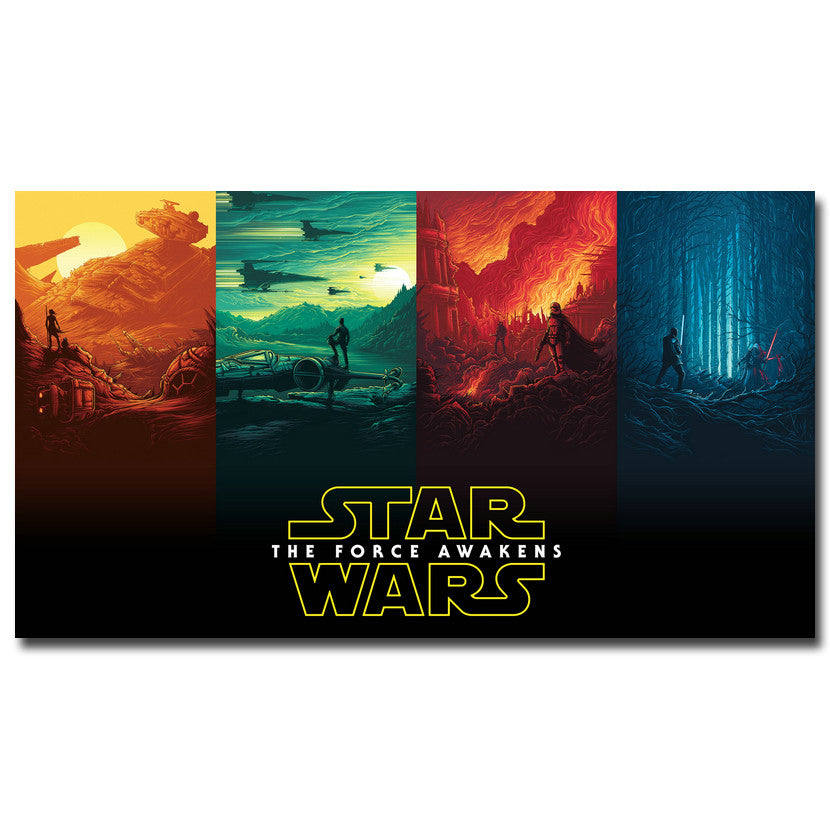 Star Wars The Force Awakens - 4 Panel Silk Poster Art