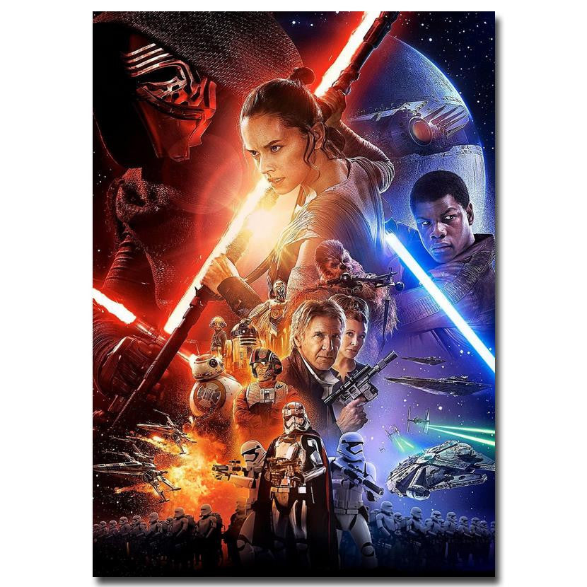 Star Wars The Force Awakens - Movie Art Silk Poster