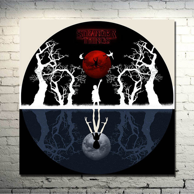 Stranger Things - Circular Upside-down Art