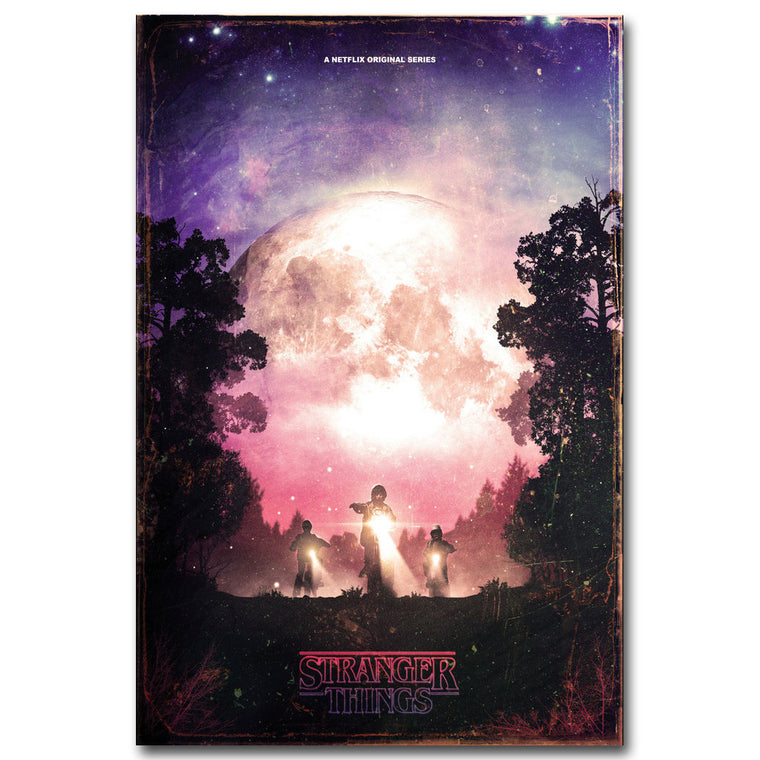 Stranger Things - Moon Silk Poster Art