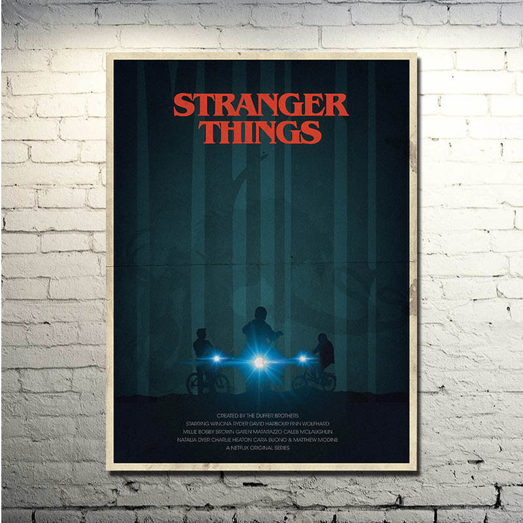Stranger Things - Shadows Silk Poster Art