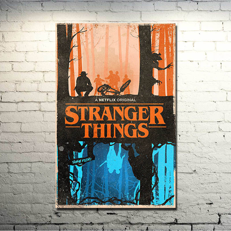 Stranger Things - The Upside and the Down Silk Poster Art