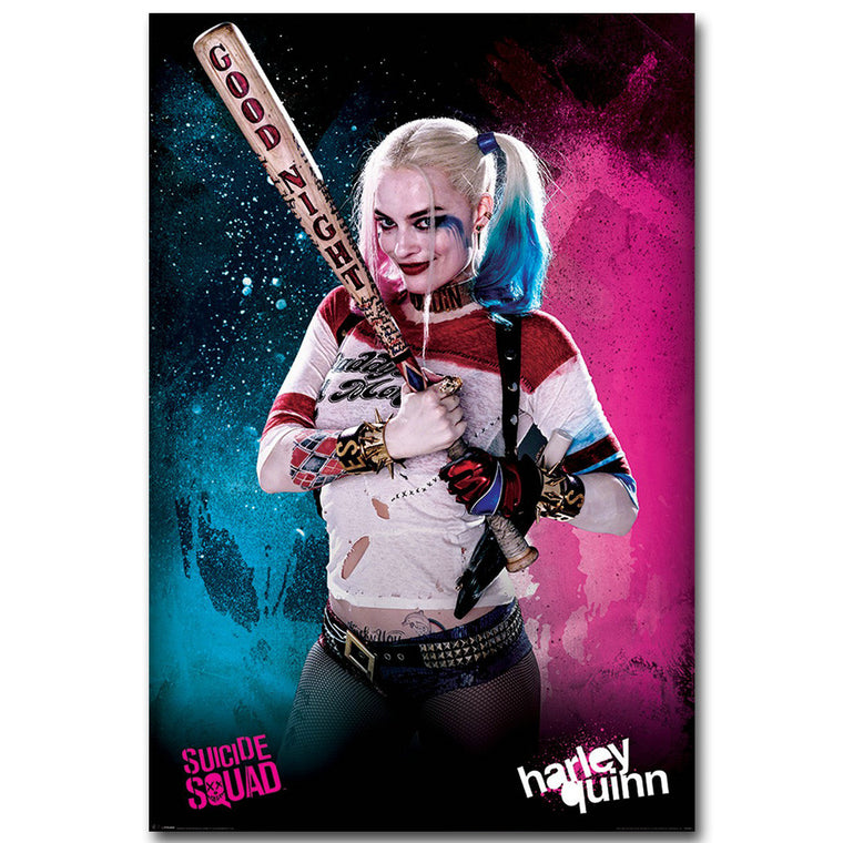 Suicide Squad - Harley Quinn Good Night Silk Poster Art