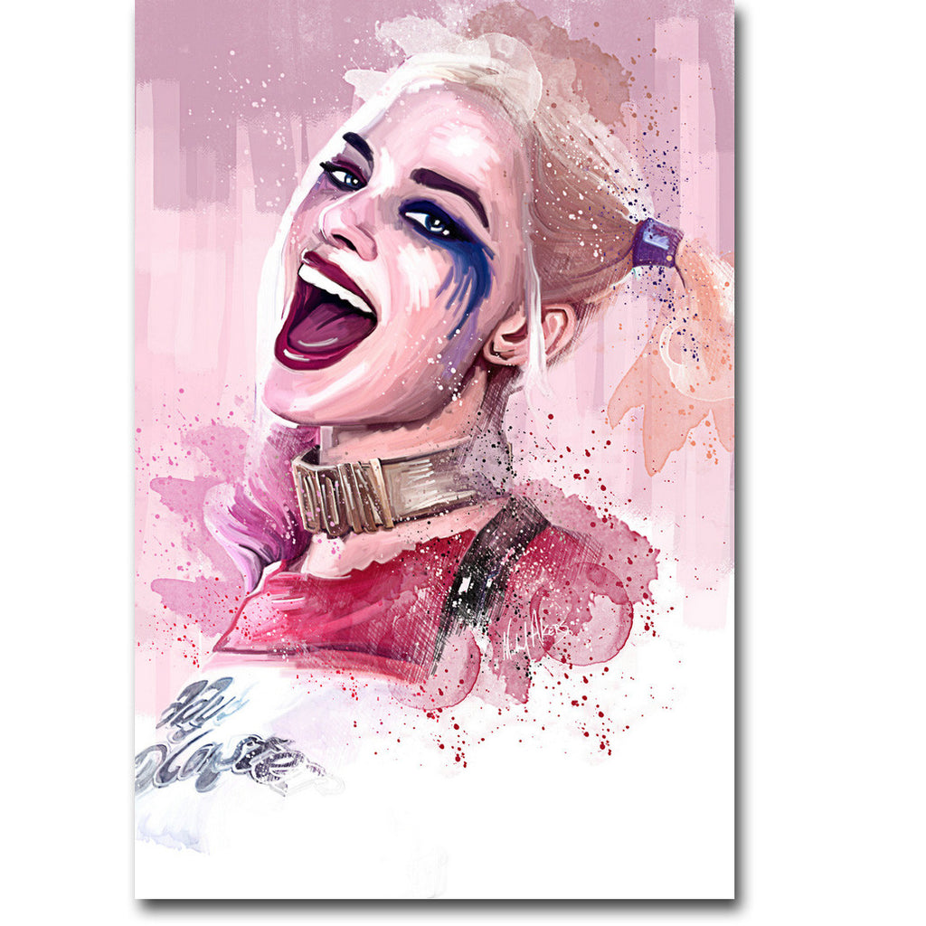 Suicide Squad - Harley Quinn Watercolour Silk Poster Art