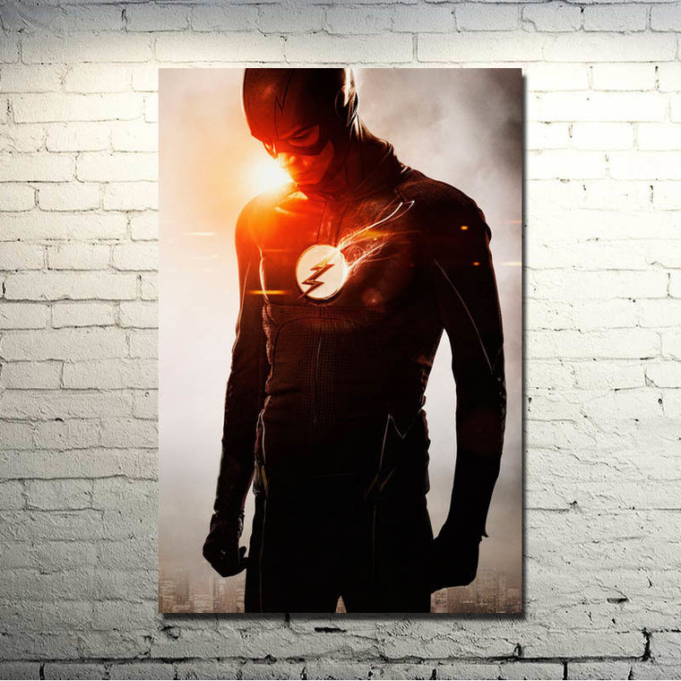 The Flash - Barry Allen In Suit Silk Poster Art