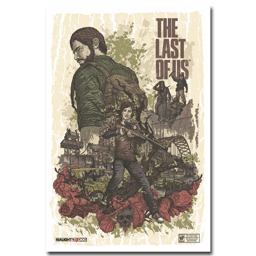 The Last of Us - Comic Style Silk Fabric Poster Art