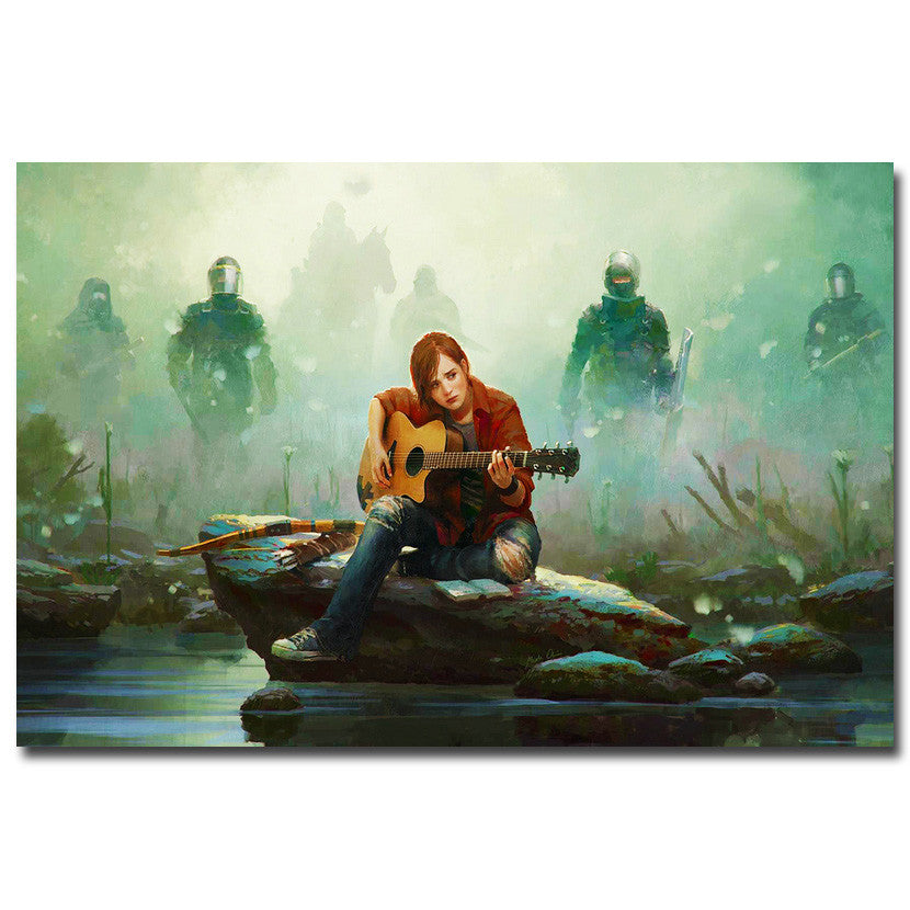 The Last of Us - Ellie and Guitar Silk Poster Art