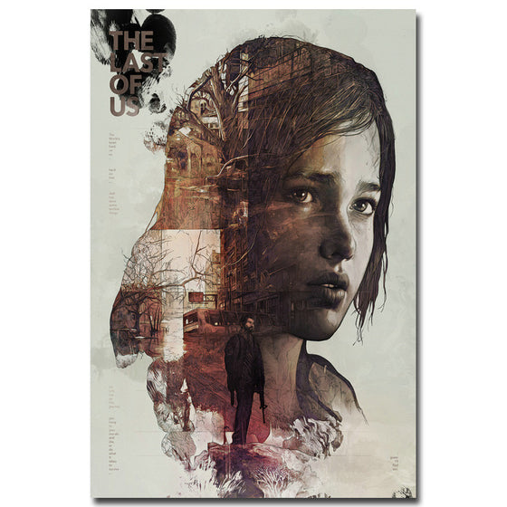 The Last of Us - Ellie and Joel Double Exposure Silk Poster Art