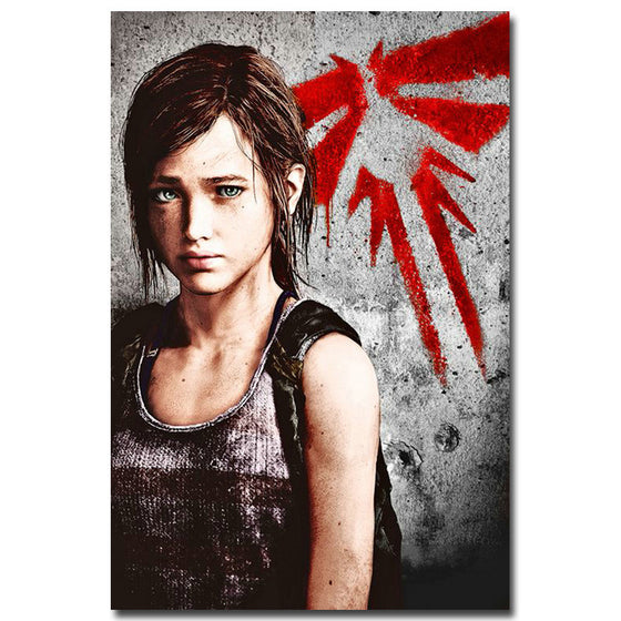 The Last of Us - Ellie And The Fireflies Silk Poster Art