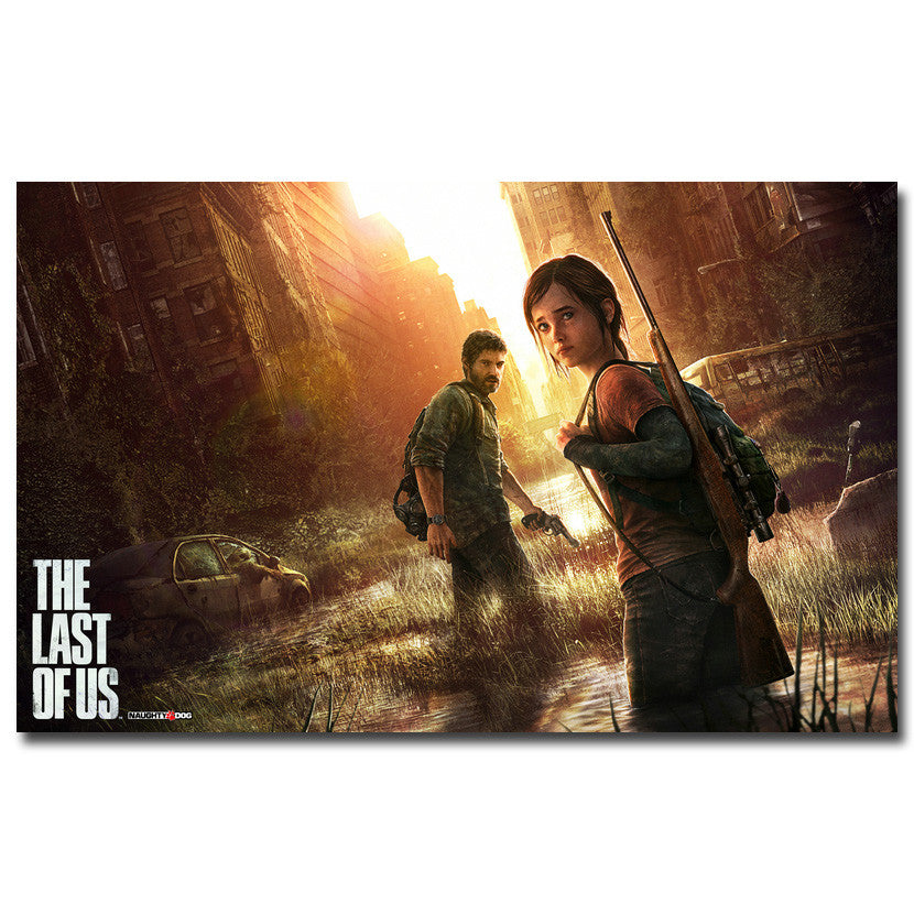 The Last of Us - Joel and Ellie Key Art Silk Poster Art