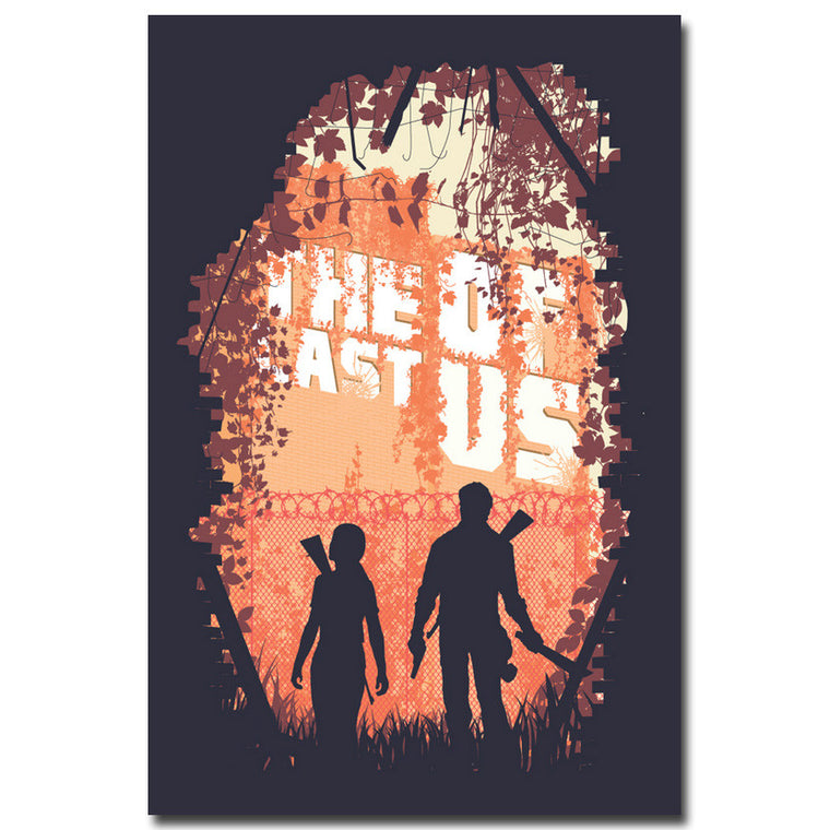 The Last of Us - Retro Style Silk Poster Art
