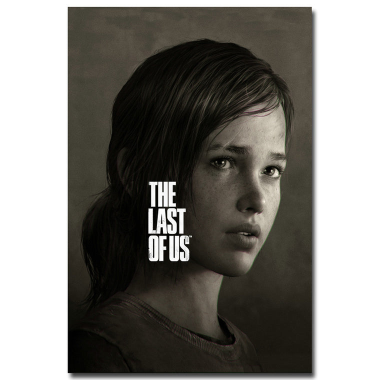 The Last of Us Silk - B&W Ellie Silk Poster Art