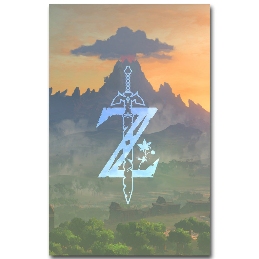 The Legend of Zelda Breath of The Wild Art Silk Fabric Poster Art
