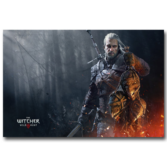 The Witcher 3 - Geralt's Trophies Silk Poster Art