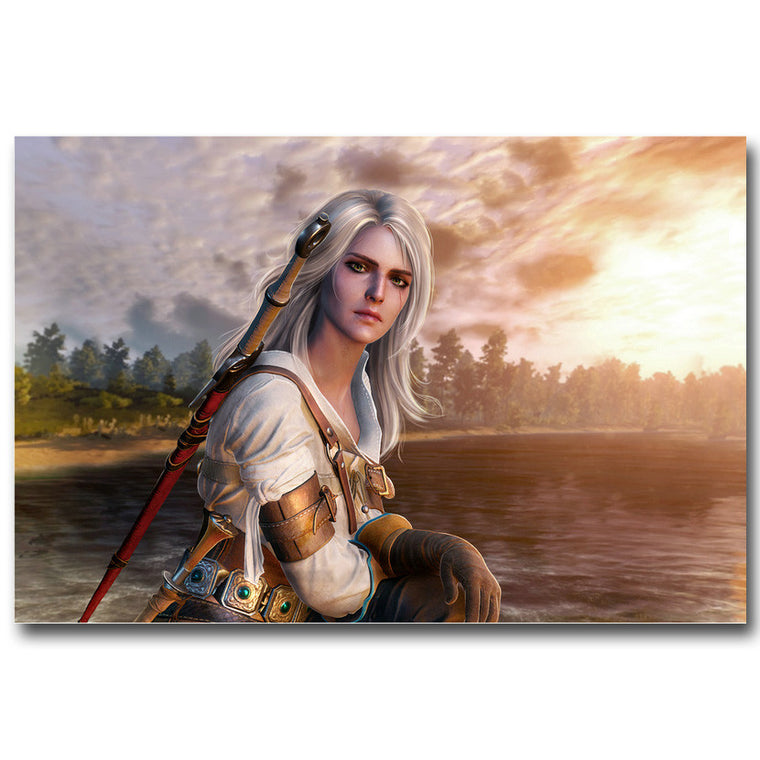 The Witcher 3 Wild Hunt - Ciri By the Lake Silk Poster Art
