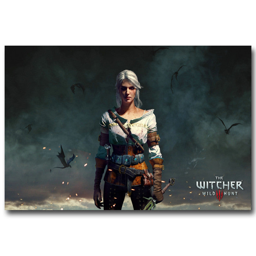 The Witcher 3 Wild Hunt  - Ciri Silk Poster Art