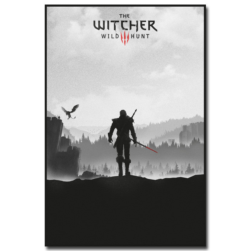 The Witcher 3 Wild Hunt - Geralt in Shadow Silk  Poster Art