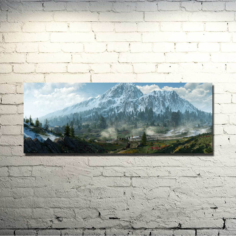 The Witcher 3 Wild Hunt - Landscape Silk Poster Art