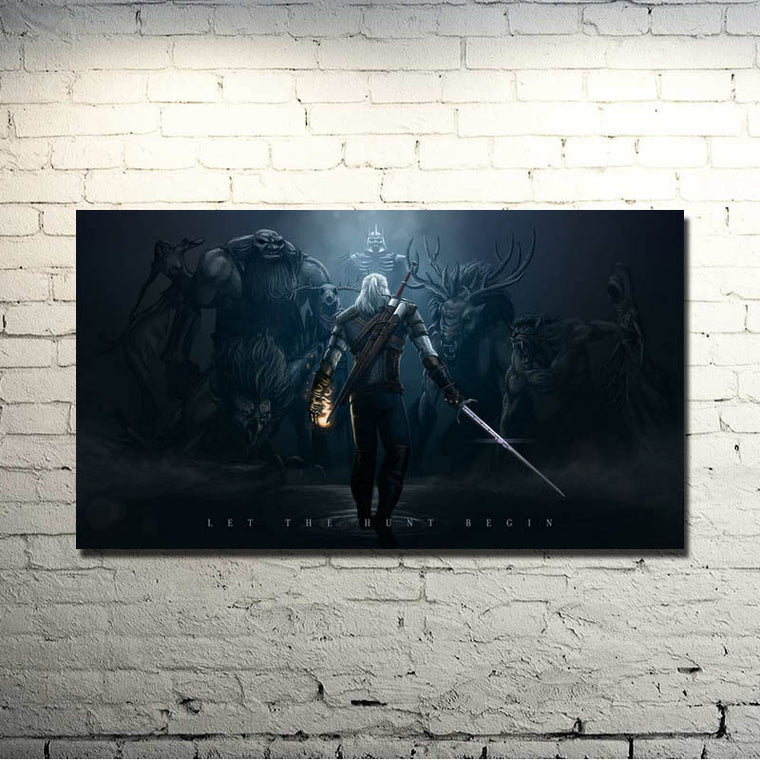 The Witcher 3 Wild Hunt - Let The Hunt Begin Silk Poster Art
