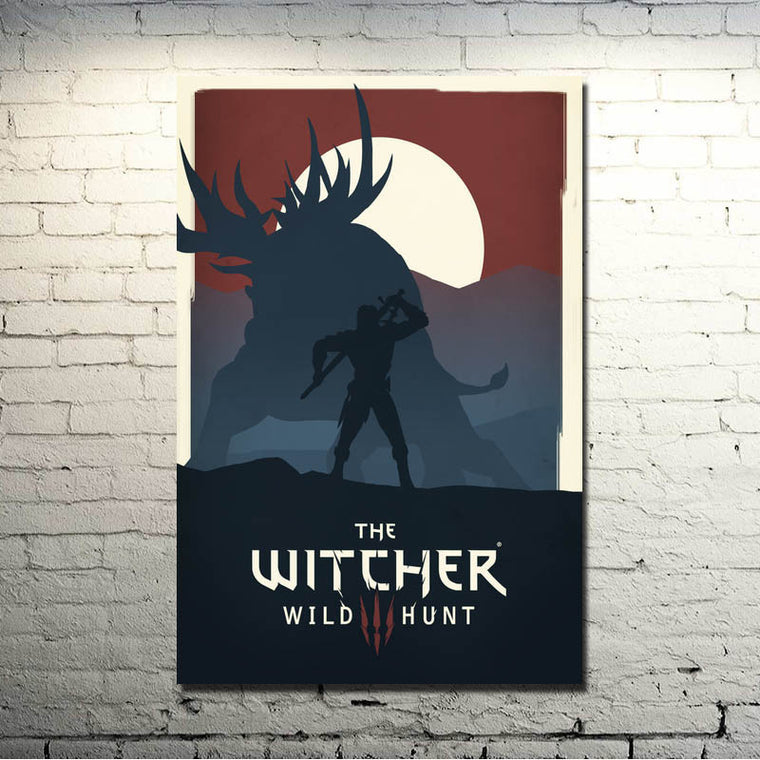 The Witcher 3 Wild Hunt - Silhouettes Silk Poster Art