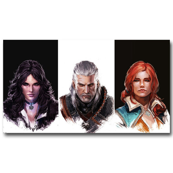 The Witcher 3 Wild Hunt - Yennefer, Geralt, and Triss Silk Poster Art