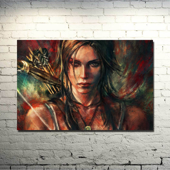 Tomb Raider - Colourful Lara Croft Silk Poster Art