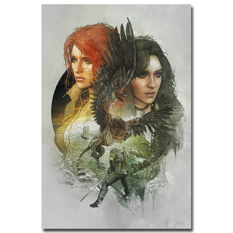 Triss and Yennifer - The Witcher 3 Wild Hunt Silk Poster Art
