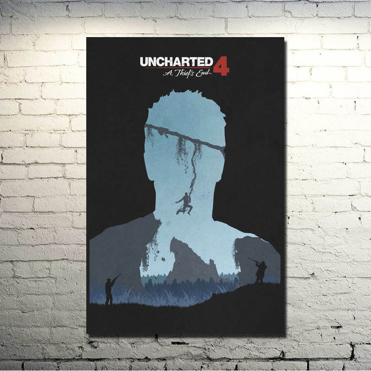 Uncharted 4 A Thiefs End - Double Exposure Nathan Drake Silk Poster Art