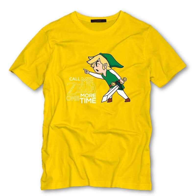 Yellow / S Call Me Zelda One More Time T-Shirt T-Shirt