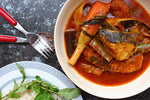 Asam Pedas Fish with Sauteed Veggie and Rice + Dessert