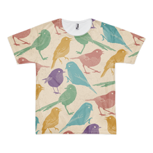 Multi-Color Bird Print T