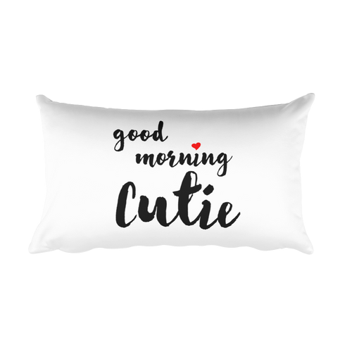 Good Morning Cutie Pillow