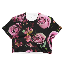 Rose Print Crop Top