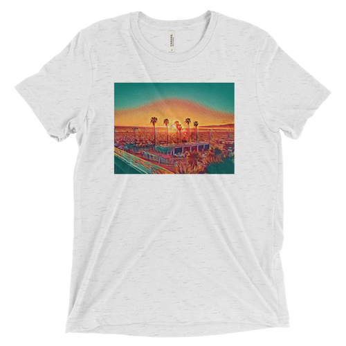 Tri-Blend Sunset Graphic T