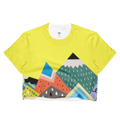 Scandinavian Mountains Crop Top