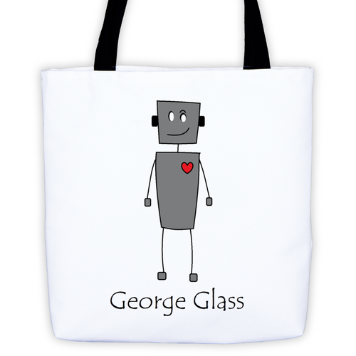 George Glass Robot Tote