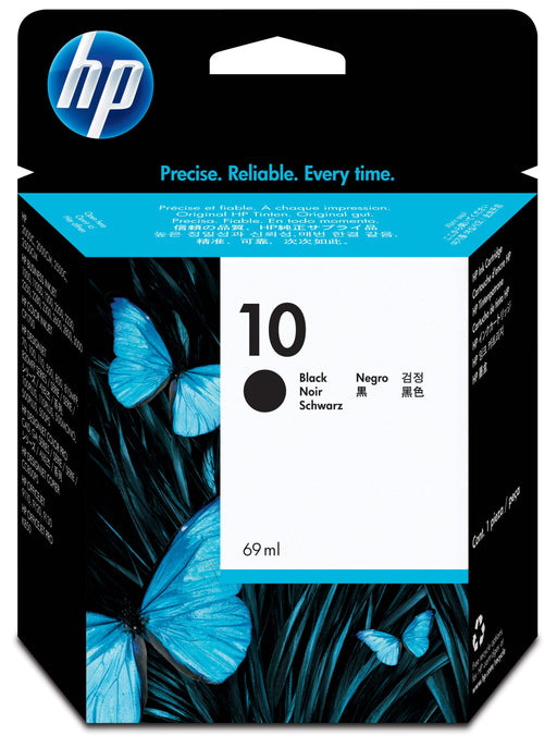 HP 10 Black Original Ink Cartridge 69ml