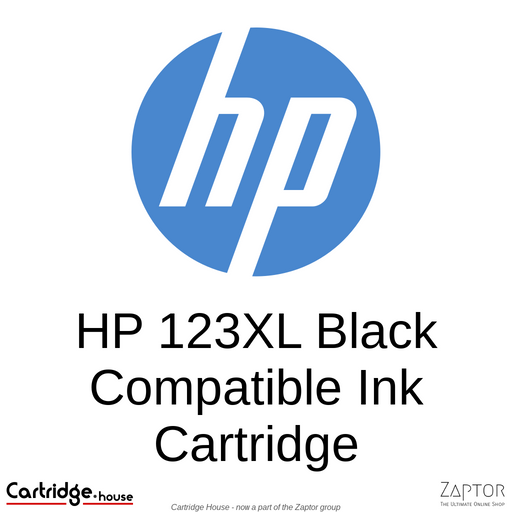 HP 123XL High Yield Black Remanufactured Ink Cartridge (F6V19AE)