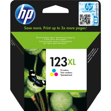 HP 123XL Tri-Colour Original Ink Cartridge