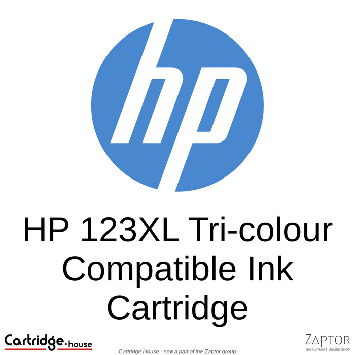 HP 123XL High Yield Tri-colour Remanufactured Ink Cartridge (F6V18AE)
